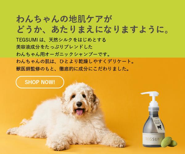 ワンちゃん用シャンプー「TEGSUMI」